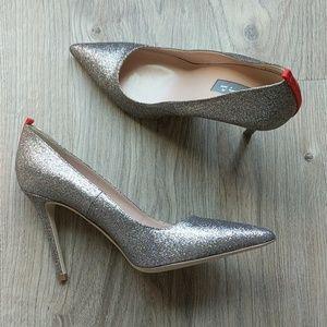 Sjp Sarah Jessica Parker fawn glitter heels tinsel
